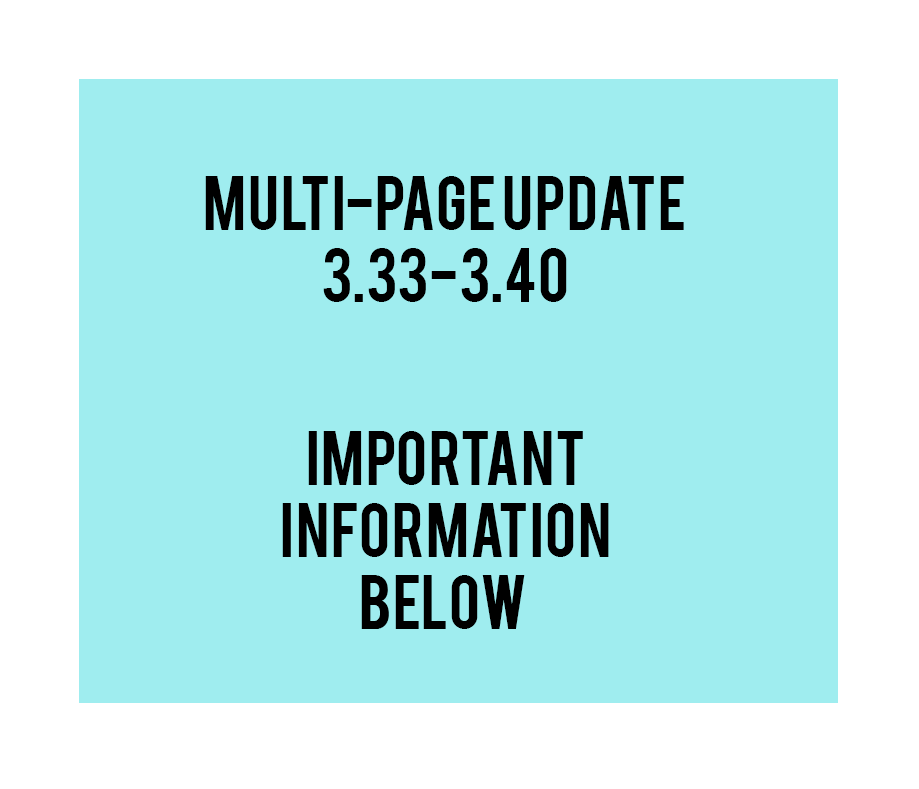 Multi-page update and announcement